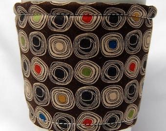 Coffee Cozy/Cup Sleeve Eco Friendly Slip-on, Teacher Appreciation, Co-Worker Gift, Bulk Discout: Light Tan Swirls on Brown