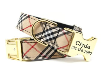 Furberry Plaid Dog Collar eb5e639fb5a9