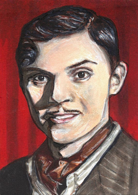 Evan Peters as James March American Horror Story Hotel Copic Marker Drawing  Art Print 11 7 x 16 5 inches