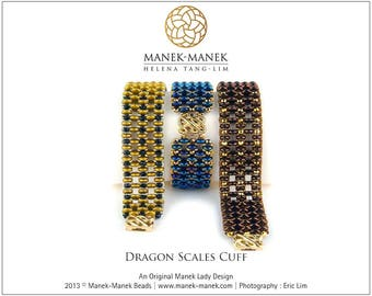 eTUTORIAL Dragon Scales Cuff