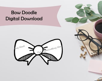 Bow Doodle Digital Download