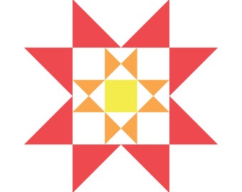 Quilt Block Collection Pattern - Autumn Star