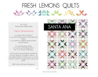 Modern Quilt Pattern - Santa Ana - PDF