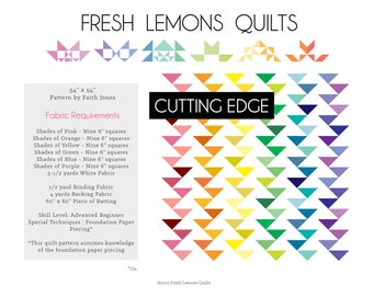 Modern Quilt Pattern - Cutting Edge - PDF