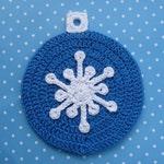 Snowflake Ornament Potholder Crochet PATTERN - INSTANT DOWNLOAD
