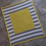 Dream Big Little One Baby Blanket - Crochet PATTERN INSTANT DOWNLOAD