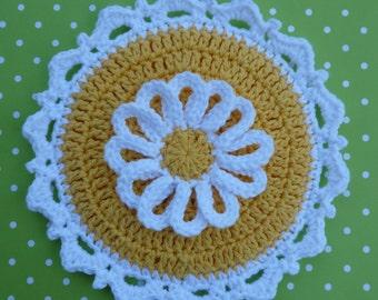 Lazy Daisy Crochet Potholder PATTERN - INSTANT DOWNLOAD