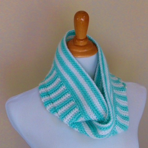 Stripes Infinity Scarf Crochet Pattern Instant Download