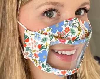 3D Clear Window Face Mask / Lip Reading Window Mask / /See Through Mask / Adjustable Mask / Clear Face Mask / Visible  Expression