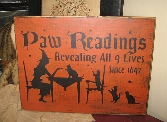 Primitive Stencil~Vintage Looking~Black Cat Fortune Readings