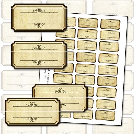 antique sepia blank spice labels digital collage sheet 300dpi etsy