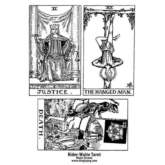 image regarding Printable Tarot Cards Pdf named Black and White Printable Tarot PDF electronic collage sheet changed artwork greeting card 4x6 100m x 150mm coaster print tasks