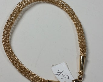 Lovely Gold Filled Viking Weave Bracelet