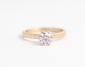 Rose Gold Diamond Engagement Ring with Conflict free Diamond made from Ethically Sourced Gold. Classic Solitaire Engagement Ring.