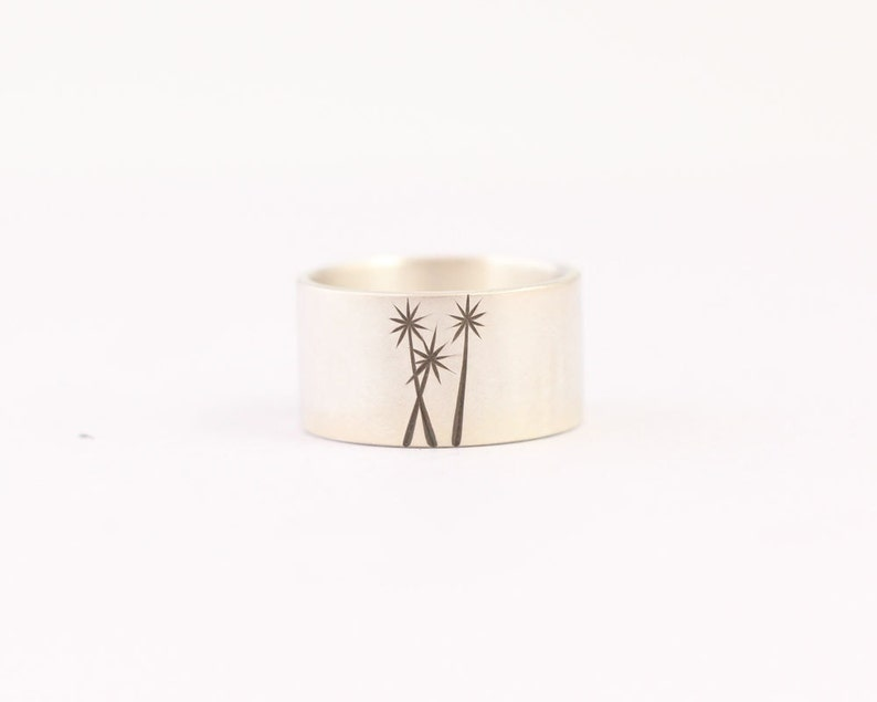 Ready to Ship Mens Wedding Band Sterling Tree Ring #38