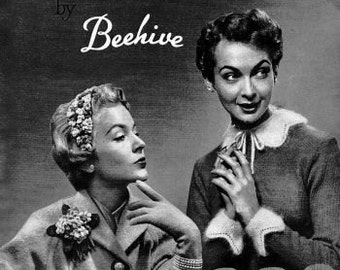 1950's - 60's Beehive 70 Hats and accessories to knit and crochet - PDF patterns