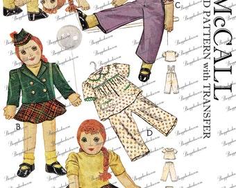 1940's Vintage McCall 903 - 26 inch cuddly big doll - PDF sewing pattern