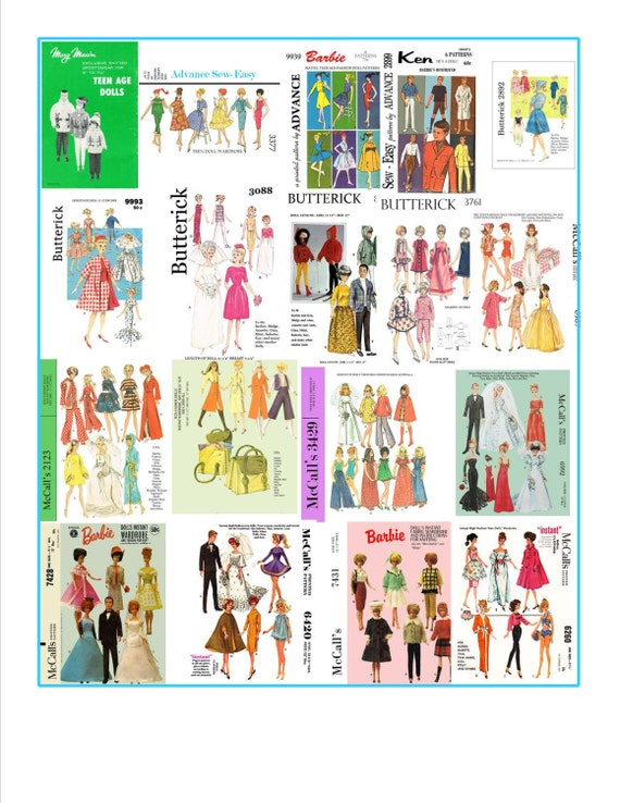 264 patrones de costura para barbie skipper y otras muñecas | Etsy
