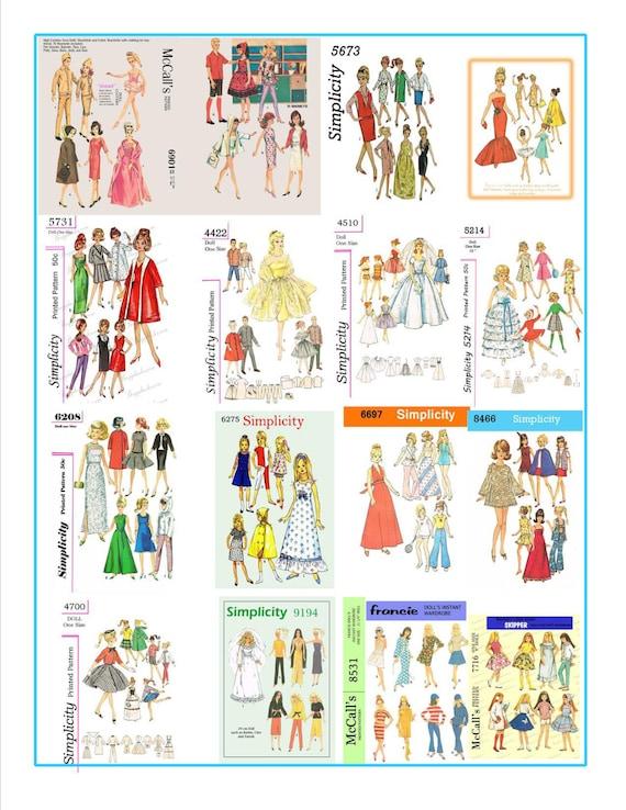 264 patrones de costura para barbie skipper y otras muñecas   Etsy