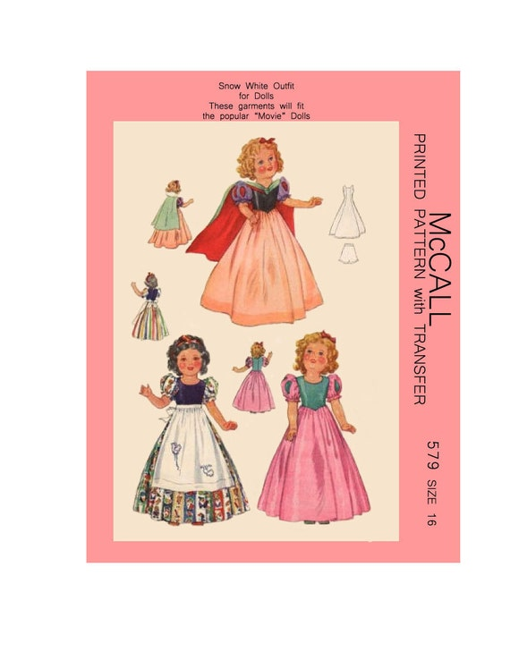 """Composition Vintage 1930s Doll Clothes Pattern ~ 13/"""" 14/"""" ShirleyTemple Patsy"""