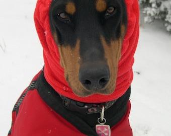 Large Polar Fleece Snood, Snood for Dog - size Large - Dobersnood, snood for Doberman, Lab, GSD