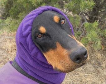 XL Snood, Polar Fleece Snood for XLarge Dog - Great Dane - PURPLE - XL Dog Snood - Snood for Great Dane