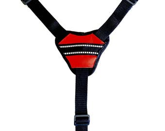 """Conversion Straps with padded center piece, 1"""" wide adjustable neck and chest straps for Cozy Horse Backpack style harness vests only"""