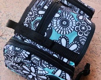 CozyHorse Service Dog Saddlebags Backpack for Harness, LIMITED EDITION floral print saddle bags for dog harness