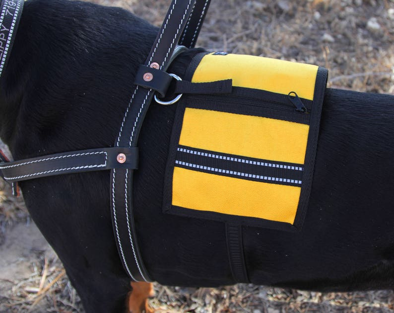 Service Dog Cape/Vest for Harness made to order  30 colors Gold