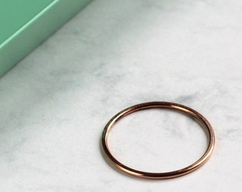 Skinny Stacking Ring - Rose Gold Fill | Midi ring | Knuckle ring | Rose gold stackable Ring | Mila Kunis ring | | mother's day