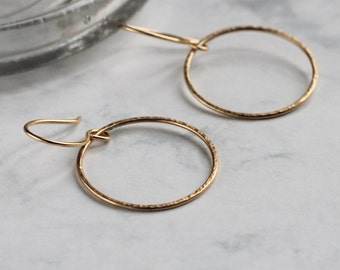 Sparkle Hoop Earrings - Gold Fill | big hoop earrings | large earrings | sparkly earrings | birthday gift | gold earrings | circle earrings