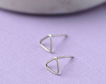 Triangle Studs - Sterling Silver Earrings | Geometric studs | Mini earrings | Small silver studs | Tiny silver studs | mother's day