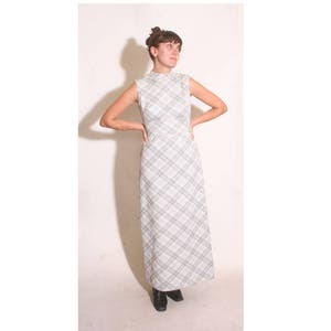 Vintage 1990s Sleeveless Turtleneck Polka Dot Ronnie Nicole Maxi Dress size L