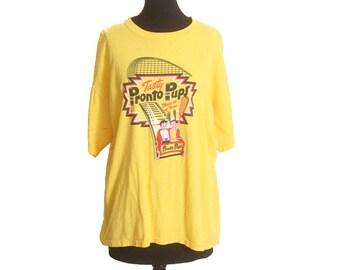 093f8fca5 Vintage 1990s Pronto Pups Yellow Hot Dog Shirt size L