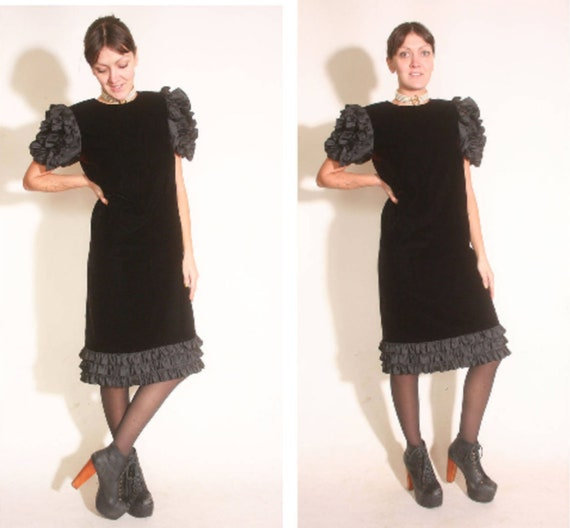 Vintage 1980s Velvet and Ruffles Maggy London Jea… - image 2