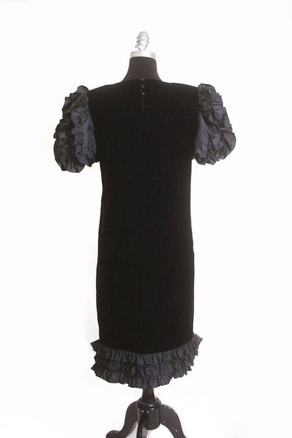 Vintage 1980s Velvet and Ruffles Maggy London Jea… - image 7