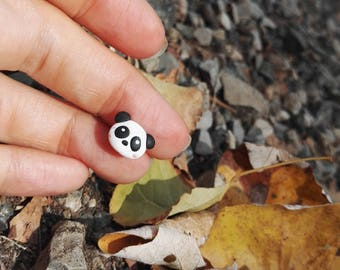 autumn collection - from woodland... panda earring