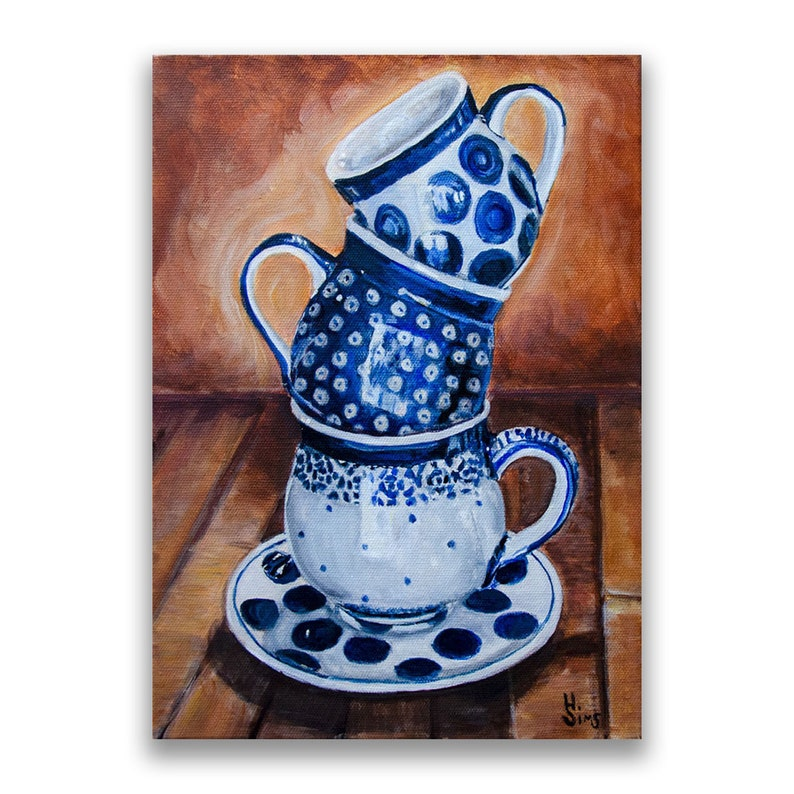 Boleslawiec Polish Pottery Bubble Mug Polka Dots Coffee image 0