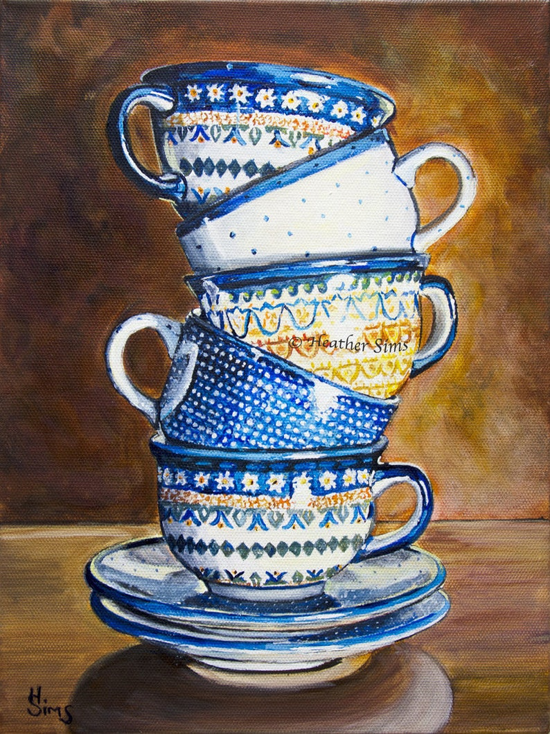 Boleslawiec Polish pottery mug Coffee Kitchen decor Rustic image 0