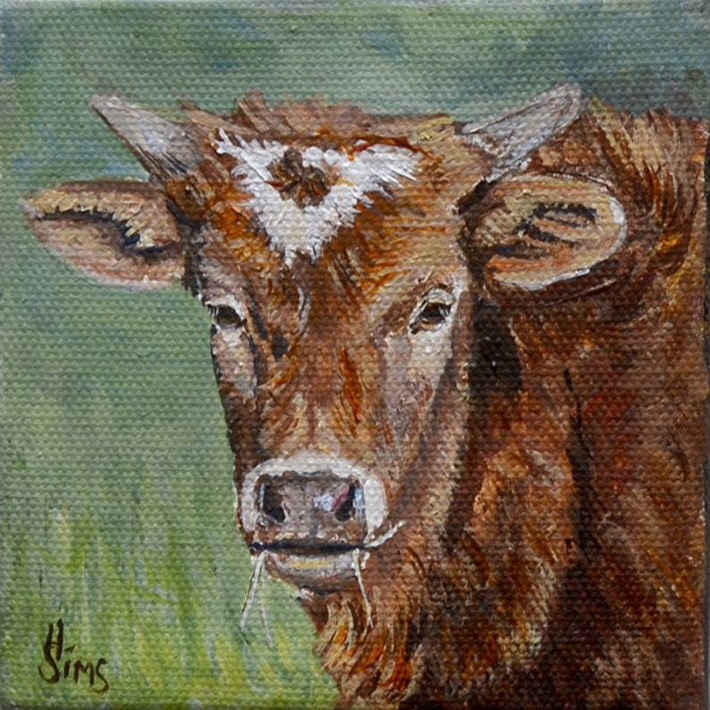 Cow Art Print for Farmhouse Wall decor country home decor image 0