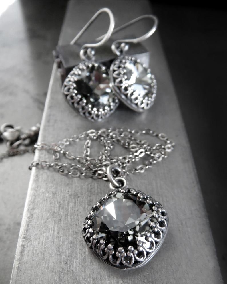 35baf557e34a ETERNITY Small Black Diamond Swarovski Crystal Earrings
