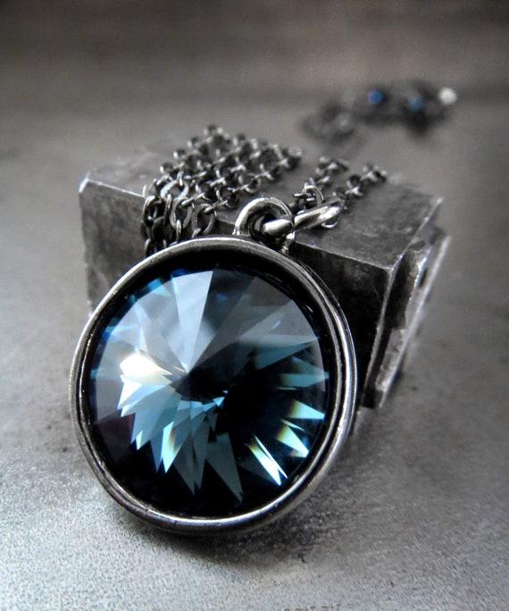 Midnight Blue Crystal Necklace