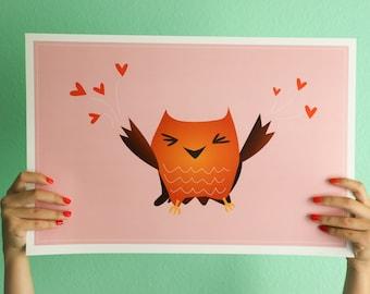 Little Hoo Love art print
