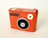 Camera Camera Case -Degicame No.58 (orange\/muted pink)