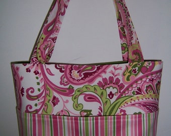 Purse PDF Sewing Pattern - Aivilo Pocket Tote Bag in 4 Sizes -Instant Download - easy to sew