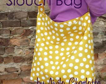 PDF Purse Sewing Pattern - Slouch Bag - easy project for beginners by Aivilo Charlotte - instant download