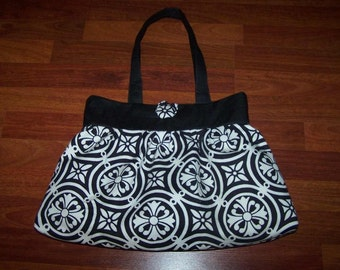 Gathered or Pleated Tote Bag - Instant Download - Easy Purse Sewing Pattern pdf