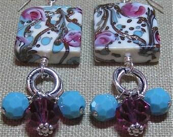 Roses on the Vine Earrings - E609