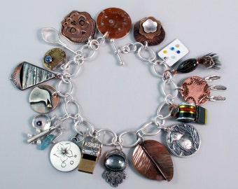 EtsyMetal Charm Swap 16 Bracelet