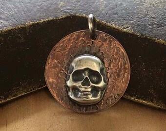 CS18 - Silver Skull Charm by SimplyAdorning